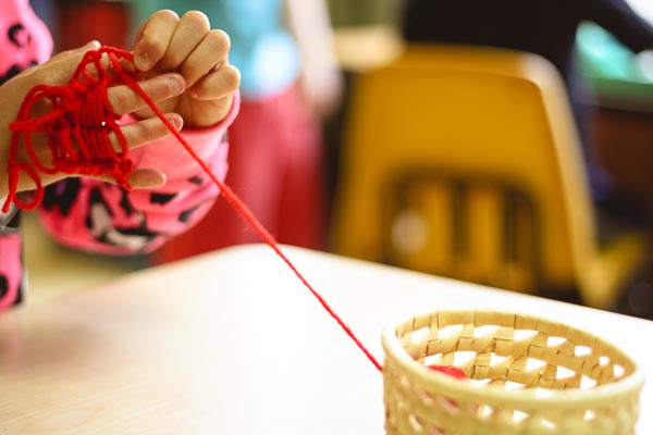 Montessori Finger Knitting