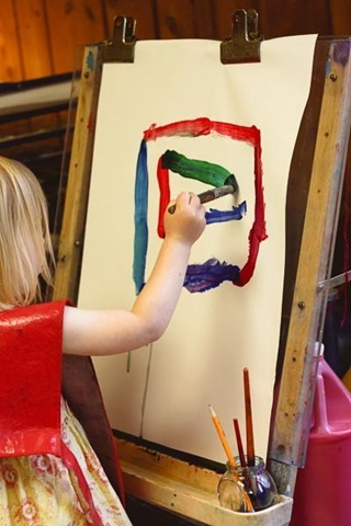 Montessori Easel Painting
