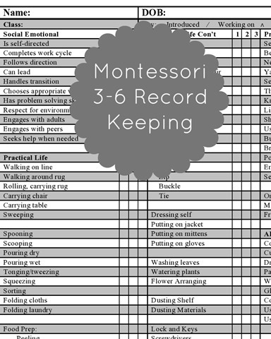 Record Keeping - Montessori Works