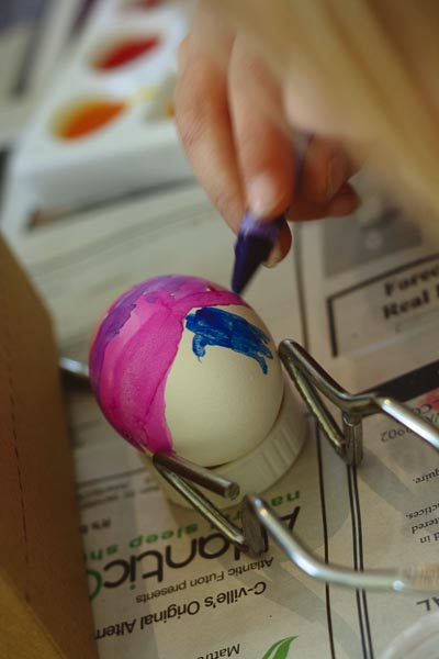 simple last minute egg decorating