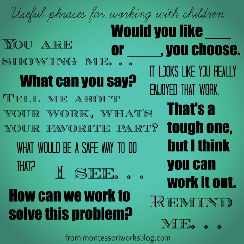 useful phrases for working with children